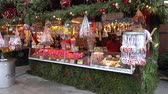 lower : Hannover, Germany - December 01, 2017: Christmas Market in the Old Town of Hannover, Lower Saxony Stock Footage