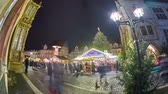 advento : Christmas Market on the historic market place in Hildesheim, Germany. Time lapse.