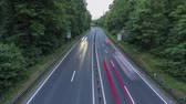 Highway A37 and traffic at dusk, time lapse shot. Germany. Lower Saxony. 4K.