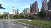 Новая Англия : Boston, USA - June 18, 2018: Street view of Boston. the capital city and most populous municipality of the Commonwealth of Massachusetts in the United States