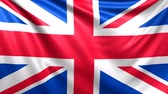 Flag of United Kingdom, Great Britain. Seamless looped video, footage Vídeos