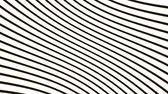 Abstract flowing wave optical wave illusion. Black and white lines motion pattern. Seamless loop background