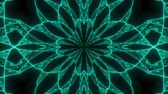 Abstract cosmic chaos looping animated background. Seamless symmetric kaleidoscope backdrop from Liquid golden hypnotic rays. VJ style Flowing ornament footage.