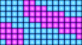 discotheque : Pink and Blue Disco nightclub dance floor LED dancing wall glowing light grid dancefloor musical background vj seamless loop club animation Stock Footage