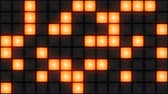 discotheque : Orange Disco nightclub dance floor LED dancing wall glowing light grid dancefloor musical background vj seamless loop club animation