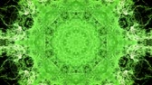 trans : Kaleidoscopic green animated background loop Stok Video