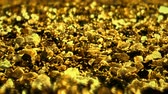 brilliance : Golden Shiny glitter background abstract texture close up macro seamless loop particles