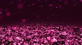 Pink Shiny glitter background abstract texture close up macro seamless loop particles