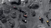 urvat : Open pit mine, extractive industry for coal, top view aerial drone
