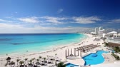Cancun Strand Panoramablick, Mexiko