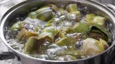 kaynama : Boiling and cooking artichokes