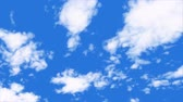 オゾン : times lapse white cloud on blue sky background motion footage. 動画素材