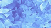 nepravidelný : Moving irregular blue low poly shapes. Abstract screensaver for video.