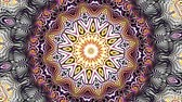 curvo : Transforming ornamental vintage mosaic art circle. Round ornate ornamental mandala pattern. Seamless loop footage.