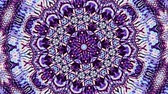 transform : Transforming ornamental circle. Round mandala pattern. Seamless loop footage.