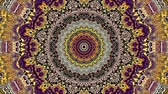 transform : Transforming ornamental vintage mosaic art circle in Art Nouvoe style. Seamless loop footage.