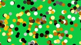 fills : Colorful spots randomly fill classic green screen background.