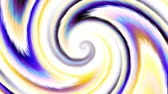 transform : Endless spinning Revolving Spiral on white background. Seamless looping footage. Abstract helix.