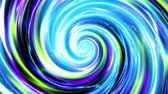 esotérico : Endless spinning Revolving Spiral. Seamless looping footage. Abstract helix with plasma effect.