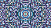 curvo : Transforming ornamental circle. Round mandala pattern. Seamless loop footage.
