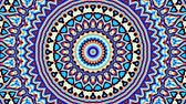 mozaika : Transforming ornamental circle. Round mandala pattern. Seamless loop footage.
