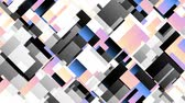 kübizm : Moving geometric shapes. Transforming squares. Looping footage. Stok Video