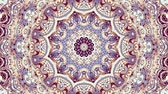 curvo : Transforming ornamental vintage mosaic art circle in Art Nouvoe style. Seamless loop footage.