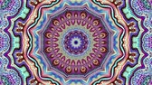 esotérico : Transforming ornamental vintage mosaic art circle in Art Nouvoe style. Seamless loop footage.