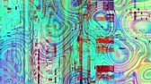 vislumbre : Abstract background with grunge artifacts codec. Imitation of a Datamoshing video. Stock Footage