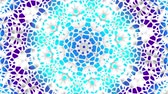 Transforming round mandala pattern. Seamless loop footage. Emboss geometric lattice mandala in arabic style. Islamic geometric arabesque pattern. Стоковые видеозаписи