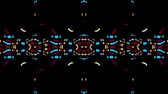 Symmetric abstract wavy ornament. Animated ethnic tribal pattern. Looping footage. Стоковые видеозаписи
