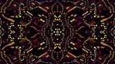 tribali : Symmetric abstract wavy ornament. Animated ethnic tribal pattern. Looping footage. Filmati Stock
