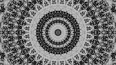 alívio : Spinning abstract magic circle. Esoteric cosmic mandala. Simply ornamental mandala. Loop footage.