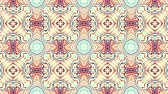ornamental : Symmetric vintage transforming ornament. Animated pattern. Looping footage. Stock Footage