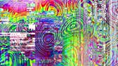 lawaai : Abstract background with grunge artifacts codec. Imitation of a Datamoshing video. Stockvideo