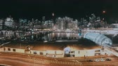 最愛 : Night Cityscape Time Lapse Of Darling Harbour Skyline Sydney, NSW, Australia. Showing Busy Nightlife Traffic Including CBD, Bridge, Boats And People Walking Around Marina And Jetties