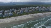 tál : aerial view of the north coast beaches in the state of Sao Paulo in Brazil. Riviera St. Lawrence. Stock mozgókép
