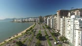 santa catarina : Beira-Mar Norte, Florianpolis, buildings, aerial shot of the avenue. July, 2017.