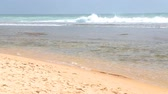 srilankan : Waves washing up on beach in Hikkaduwa Stock Footage