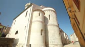 krk : Fortress architecture of the old town of Krk, Croatia Stock Footage