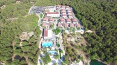 Aerial view of resort in the Adriatic 影像素材