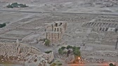 faraon : Aerial view over famous ancient Ramasseum temple on the west bank of Luxor in Egypt