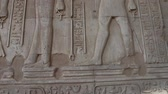 faraon : Hieroglyphic carvings on an ancient egyptian temple wall