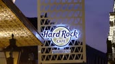 wegry : JUL 03, 2015 BUDAPEST, HUNGARY: Hard Rock cafe sign in Budapest