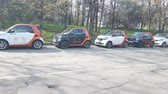 sity : APR 30, 2018, MOSCOW, RUSSIA: Group of carsharing car on the street. New business in Russia. In 2017 organised 8 carsharing company in Moscow.