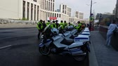 belső : MAY 05, 2018 MOSCOW, RUSSIA: Russian road polis officers team on the street.