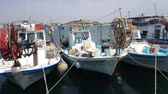 guincho : MAY 22, 2018, PAPHOS, CYPRUS: Small Fishing Boats In Paphos Harbor, Mediterranian sea, Cyprus.
