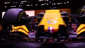 renault : Renault f1 rs 18 show car at mims 2018. SEP 03, 2018 MOSCOW, RUSSIA