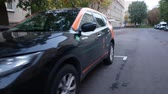 sity : YouDrive Carshering car on the street of Moscow. SEP 04, 2018 MOSCOW, RUSSIA
