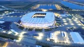 rosja : ROSTOV-ON-DON  RUSSIA MAY 19 2018: Aerial view of stadium Rostov Arena